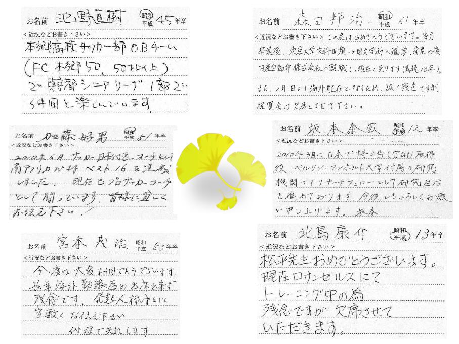 松平賴武理事長旭日小綬章受章祝賀会 メッセージ 2011.02.20 その2